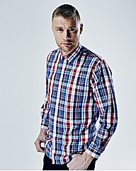 Flintoff By Jacamo Large Check Shirt Reg