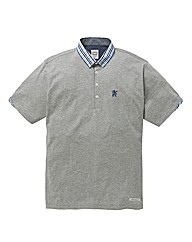 Lambretta Woven Collar Polo Long