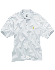 Jacamo White Embroidered Polo Xtra Long