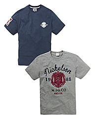 Nickelson Pack of Two T-shirts