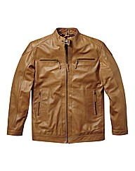 Jacamo Leather Biker Jacket