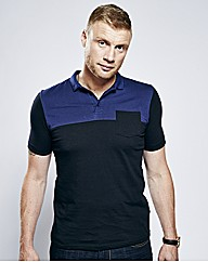 Flintoff By Jacamo Panel Polo Regular