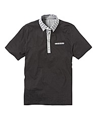 Black Label by Jacamo Contrast Polo Long