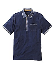 Black Label by Jacamo Trim Polo Reg