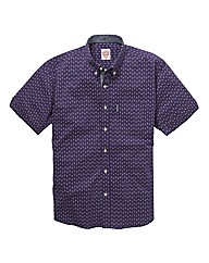 Lambretta Short Sleeve Print Shirt Long