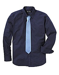 Black Label Shirt With Tie Reg