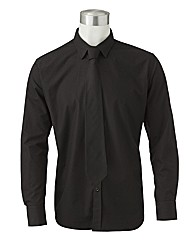 Black Label by Jacamo Shirt With Tie Reg