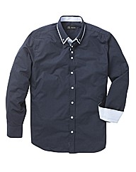 Black Label Double Collar Shirt Long