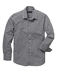 Black Label Gingham Check Shirt Reg