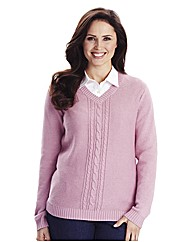 Sweater With Cable To Front