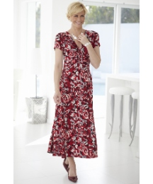 Printed Fabric Jersey Dress Length 43in