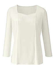 Plain Jersey Sweetheart Top