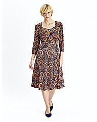 Printed Jersey Dress Length 43in
