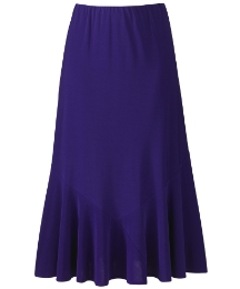 Fluted Plain Jersey Skirt Length 29in