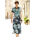Flower Print Jersey Dress Length 43in