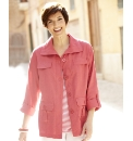 Linen Blend Shirt Style Jacket