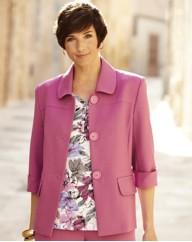 Linen Look Button Jacket