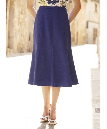 Petite Linen-Look Skirt Length 27in