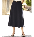 Soft Jersey Skirt With Belt Length 29in
