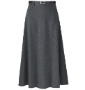 Soft Jersey Skirt With Belt Length 32in