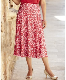 Mono Print Jersey Skirt Length 29in