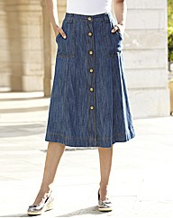 Denim Casual Skirt Length 29in