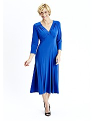 Plain Jersey Dress with Yoke Detail