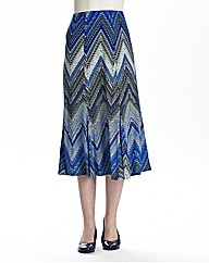 Print Soft Jersey Skirt Length 29