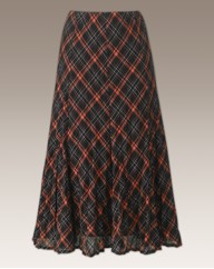 Crinkle Check Skirt Length 32