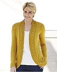 Edge to Edge Cardigan with Cable