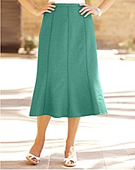 Petite Linen-Look Gored Skirt 27in