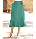 Linen-Look Gored Skirt 29in