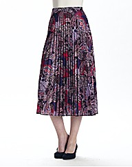 Sunray Printed Pleat Skirt Length 27in