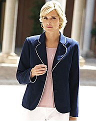 Tailored Jacket With Contrast Piping