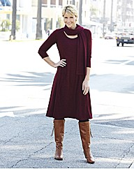 Dress With Scarf Length 43in