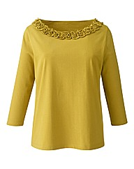 Ruched Neckline Jersey Top
