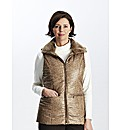 Dannimac Animal Print Gilet with Fur