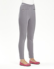 Zip Detail Leggings Length 27in