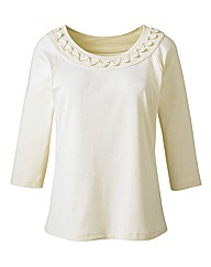 Jersey Top With Detailed Neckline