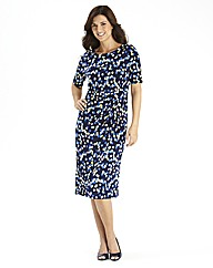 Round Neck Panel Spot Dress Length 43