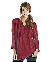 Dobbie Blouse With Jersey Camisole