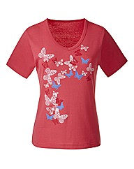 Jersey Top With butterfly