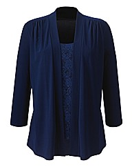 Sequin Lace Mock 2 In 1 Cardigan