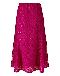 Sequin Lace Detail Skirt Length 29