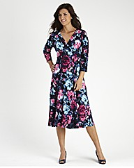 Printed Jersey Dress L 48in