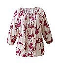 Floral Print Gypsy Blouse