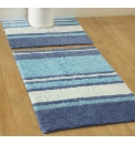 Striped Cotton Bath Mat Set