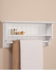 Colonial Towel Rail With Shelf