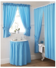 Plain Dye Bath Curtain