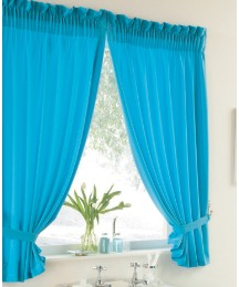 Plain Dye Curtain Set & Tie Backs